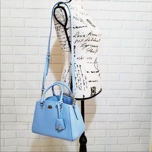 Coach Pale Blue Mini Carry All Messenger Bag